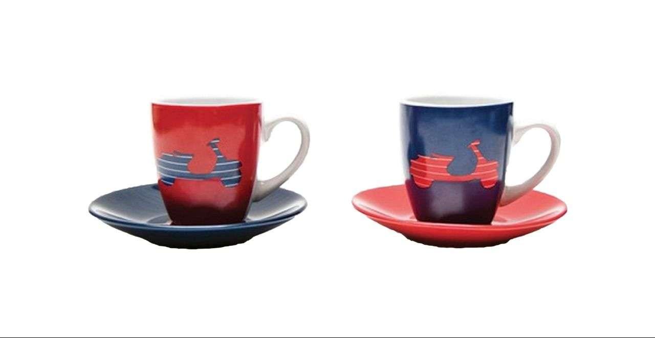 Vespa Tassen (4-teiliges Set bestehend aus zwei Tassen und zwei Untertassen) UVP: € 24,-