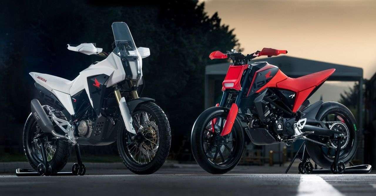Honda CB125X und CB125M – zwei Designstudien in der 125er-Klasse aus Hondas Kreativwerkstatt in Rom.