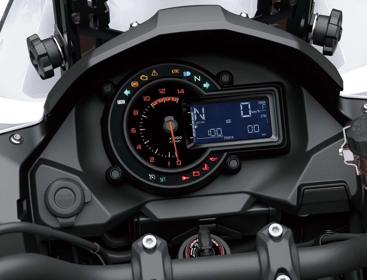 Das Basismodell der Versys 1000 muss mit einem LC-Display auskommen.