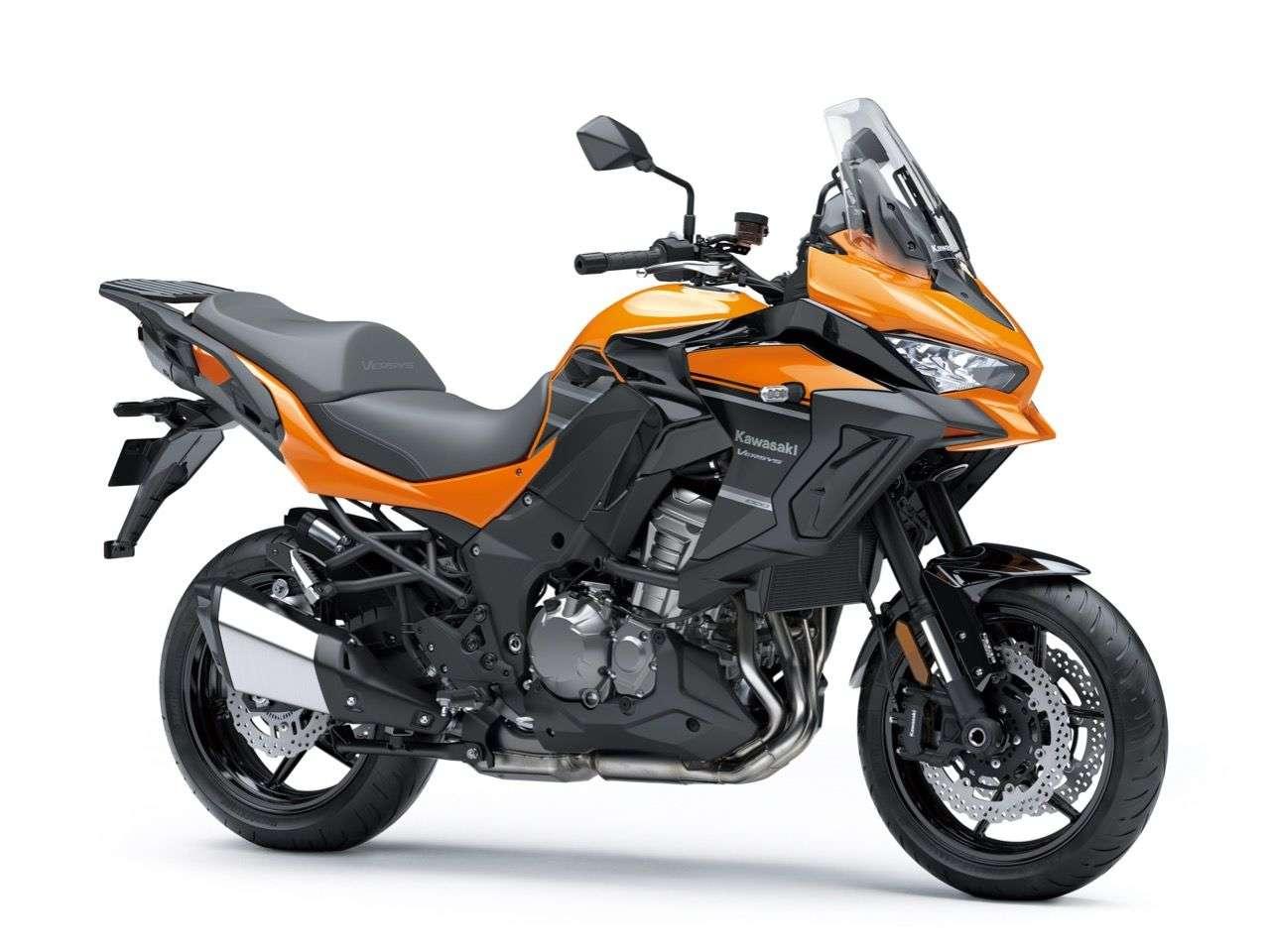 Orange für das Basismodell: Kawasaki Versys 1000, Modelljahr 2019.