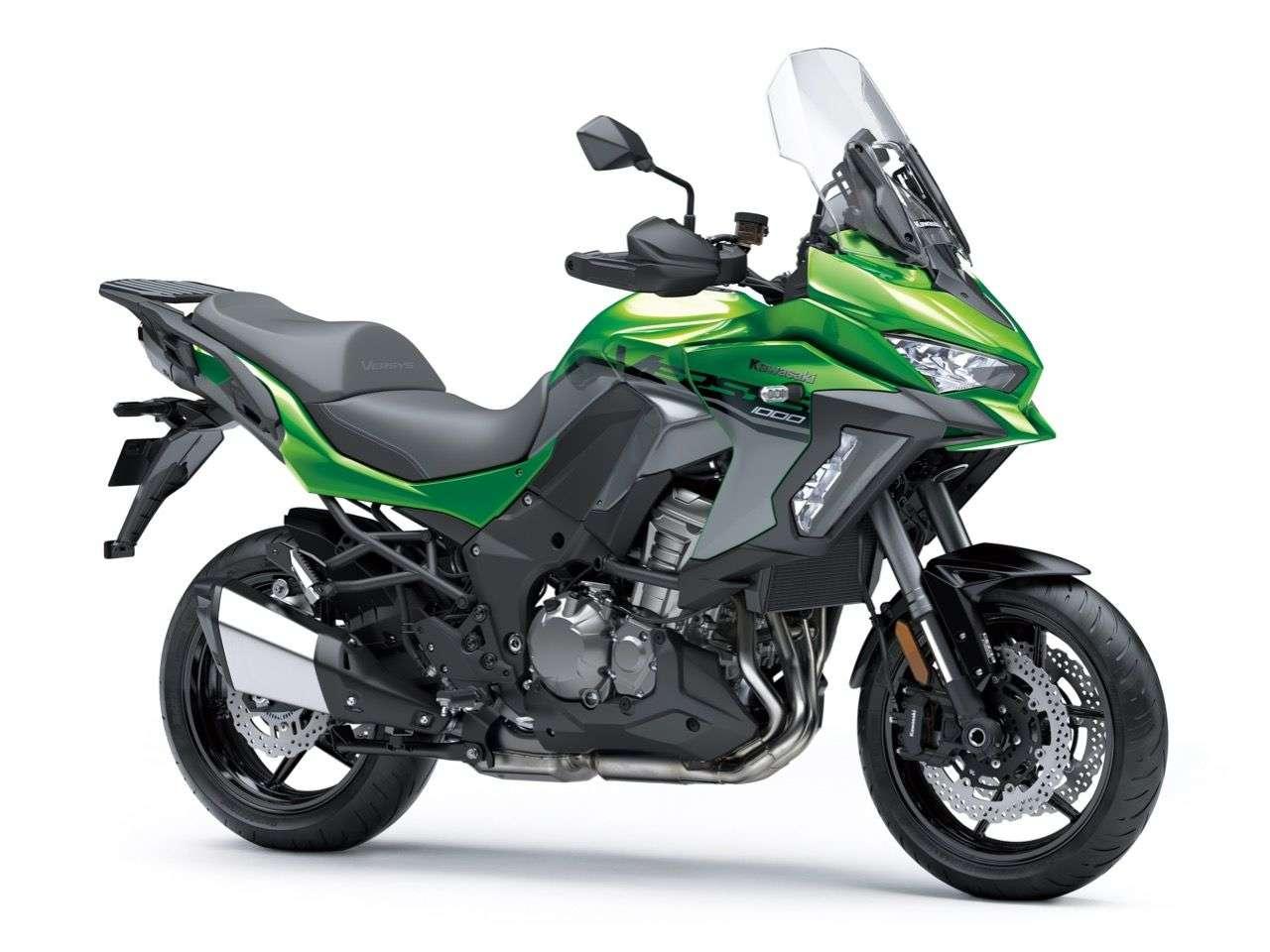 Diesmal nicht Dasselbe in Grün: Die neue Kawasaki Versys 1000 SE.