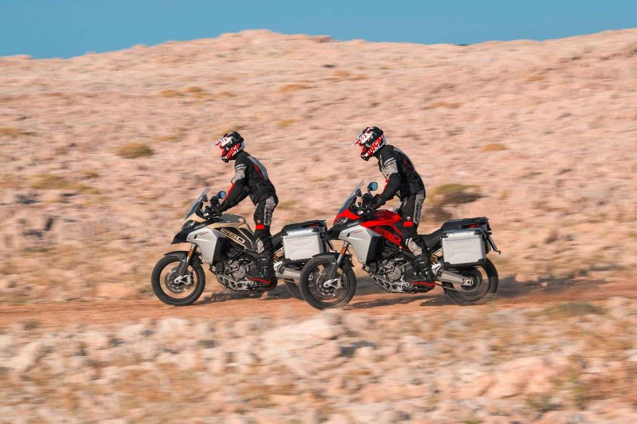 Ducati Multistrada 1260 Enduro: 2019 in Rot oder Sand-Matt erhältlich.