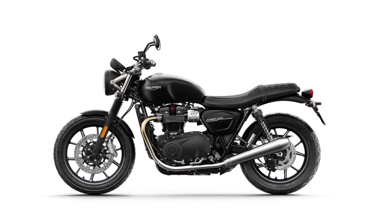 Simplifikationen. Hier steht nichts als ein Motorrad.