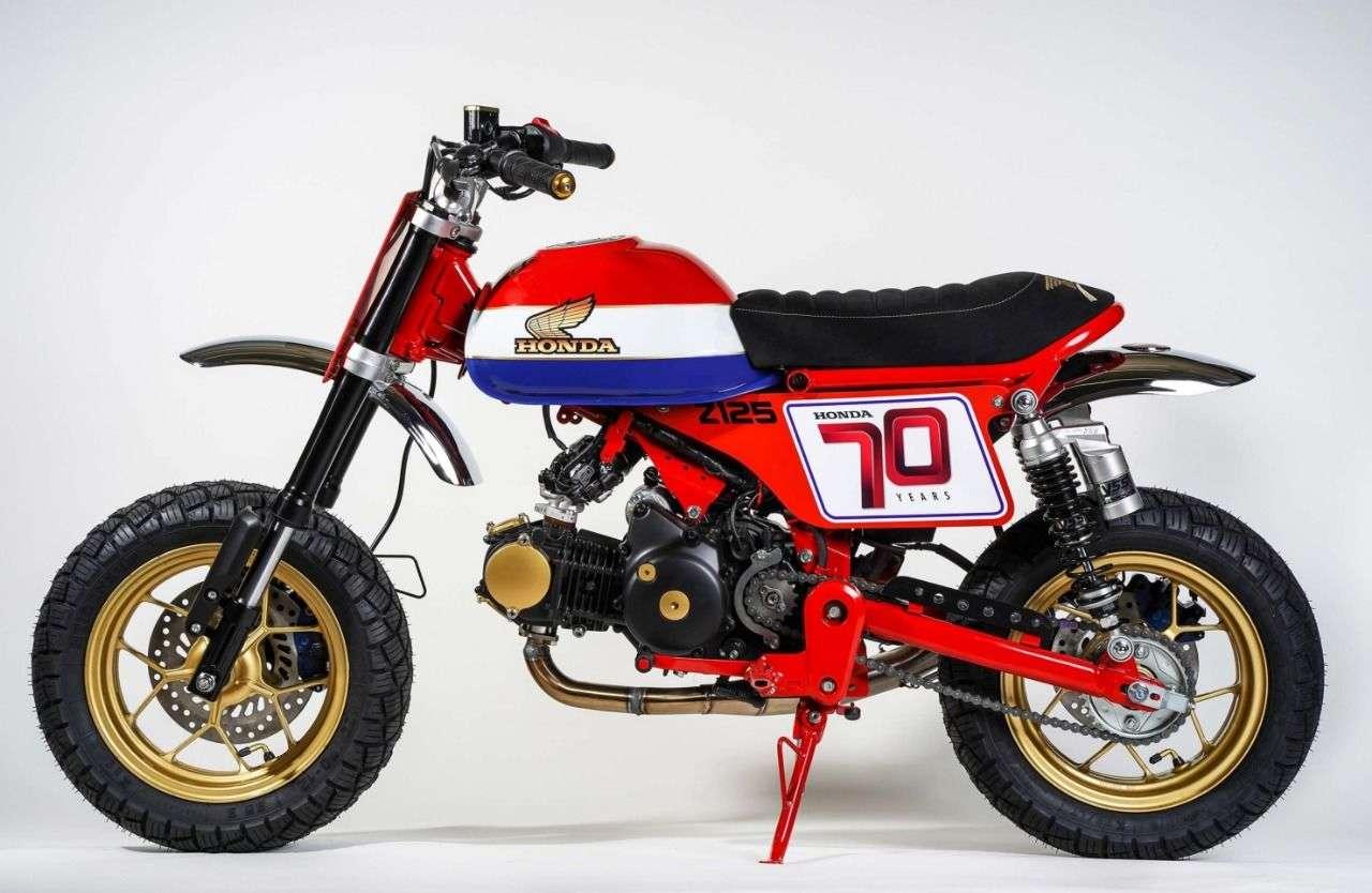 Dirk Oehlerking baute die Monkey zum Flat Tracker um.