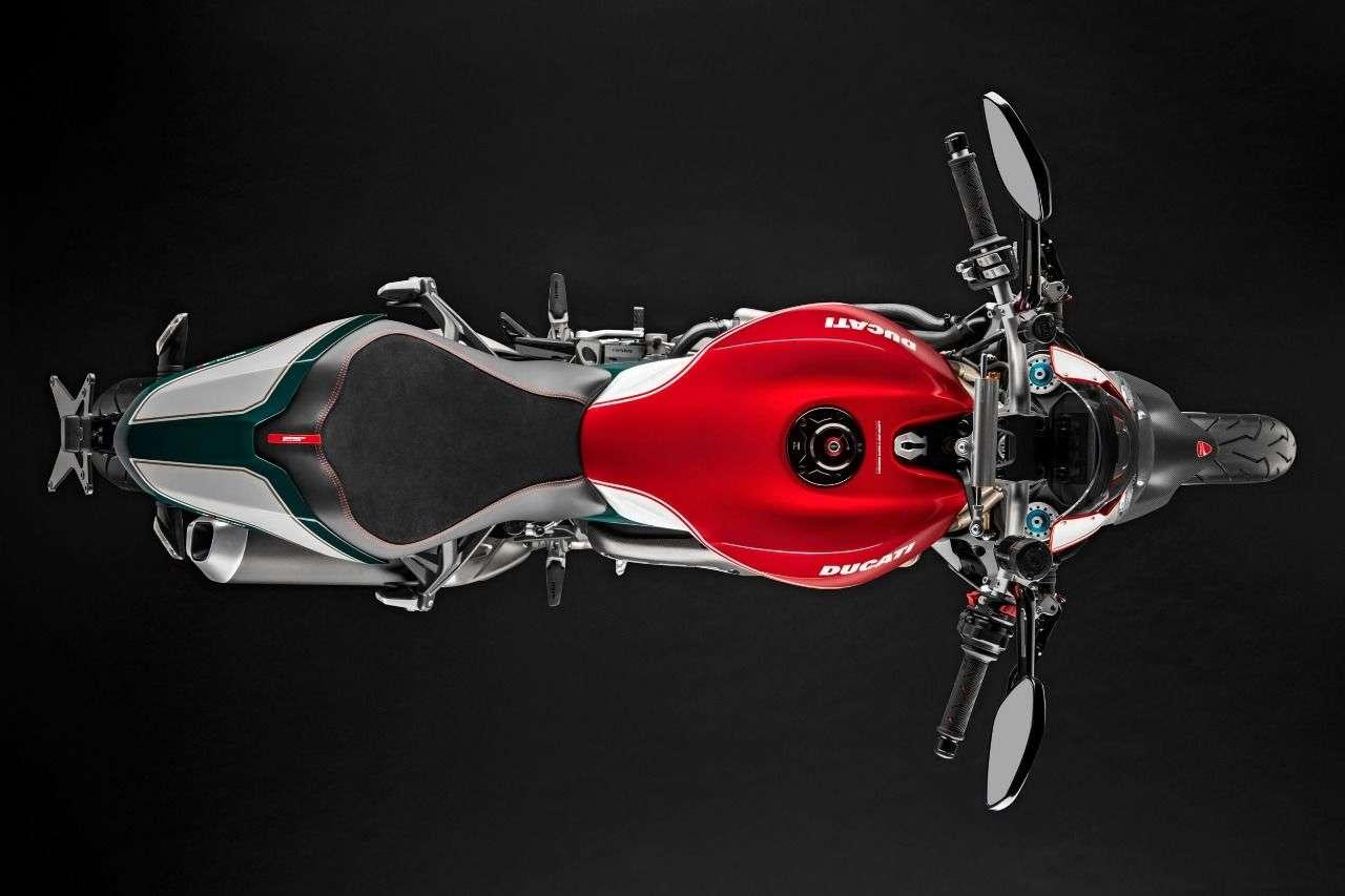 Die Ducati Monster 1200 25 Anniversario so, wie sie Gott sieht.
