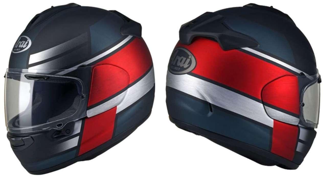 """Arai Chaser X-Tone Red: Dieses Design wirkt durch eine """"gebürstete"""" Oberfläche ganz besonders edel."""