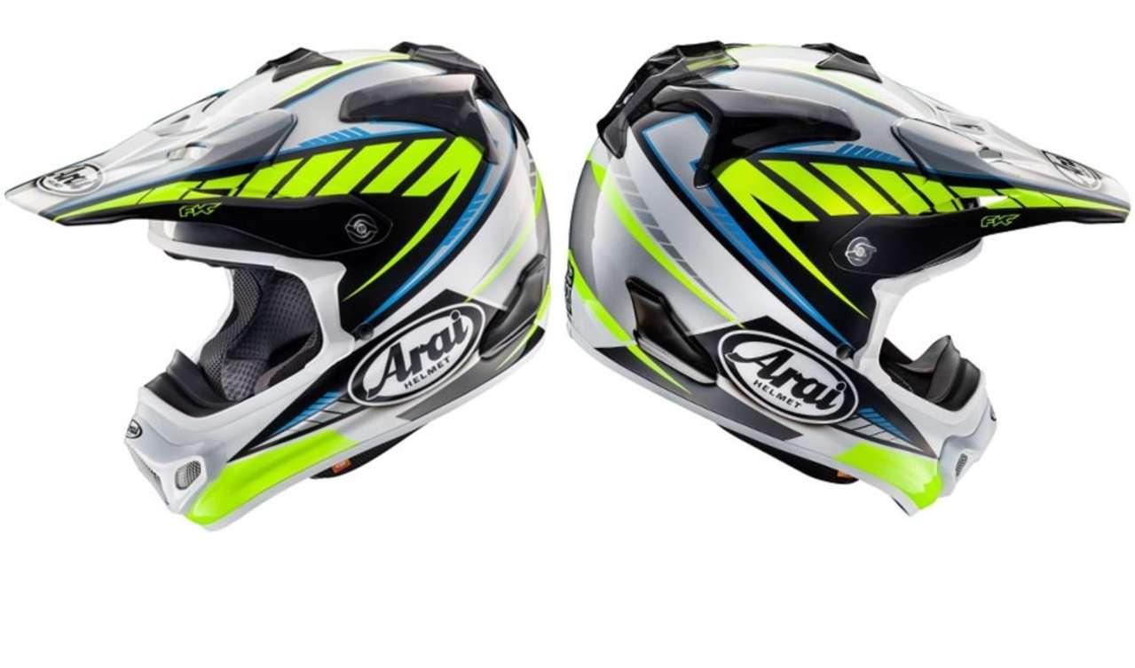 Arai MXV Rumble Yellow: Beim Rumble in the Jungle wird man mit diesem Helm bestimmt nicht übersehen. Fresh und futuristisch.