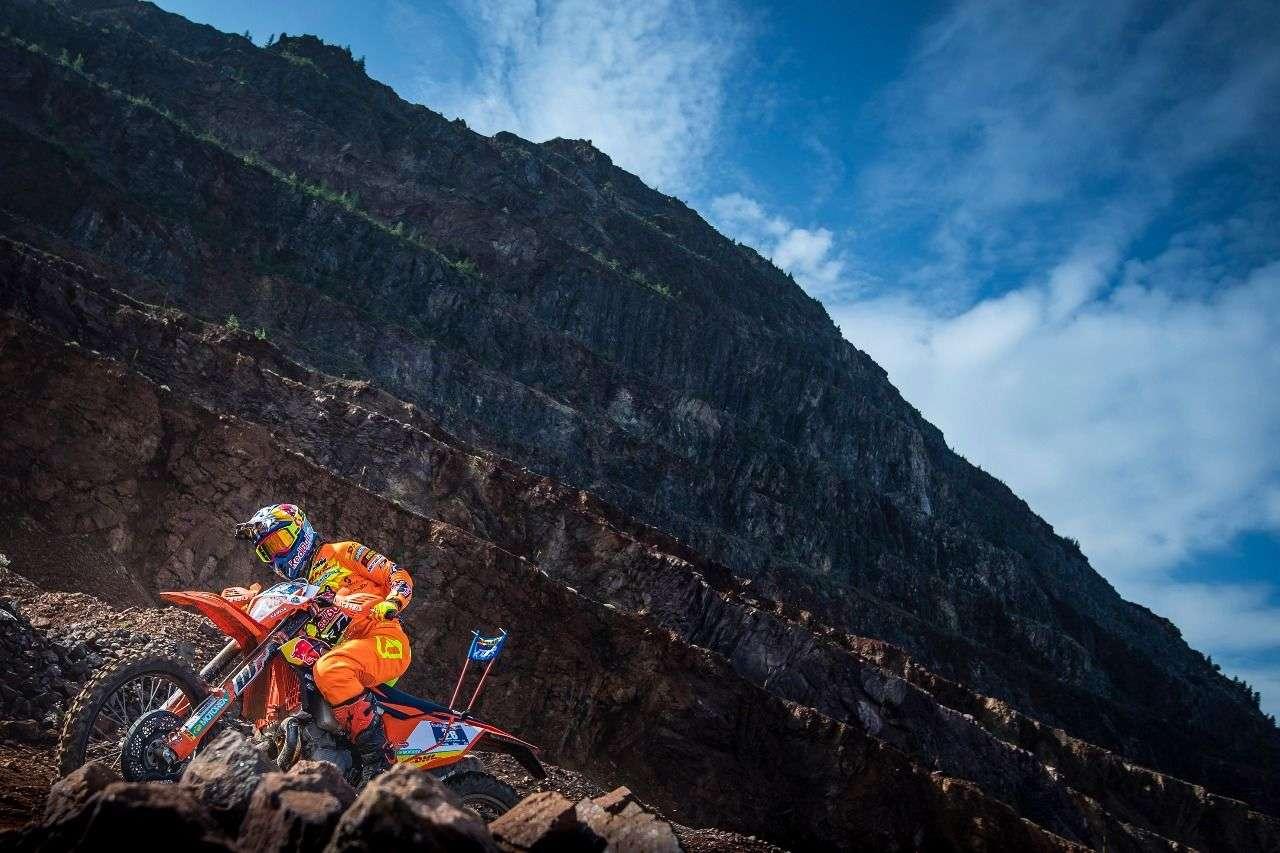 Josep Garcia (ESP) fährt Bestzeit beim Prolog. Hinter ihm landet Dakar-Sieger Motz Walkner.