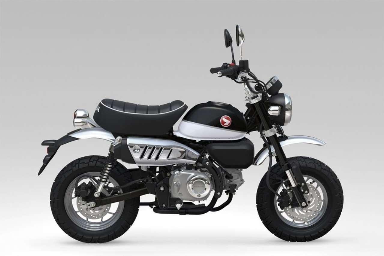 Eine von drei Farbvarianten der Honda Monkey.