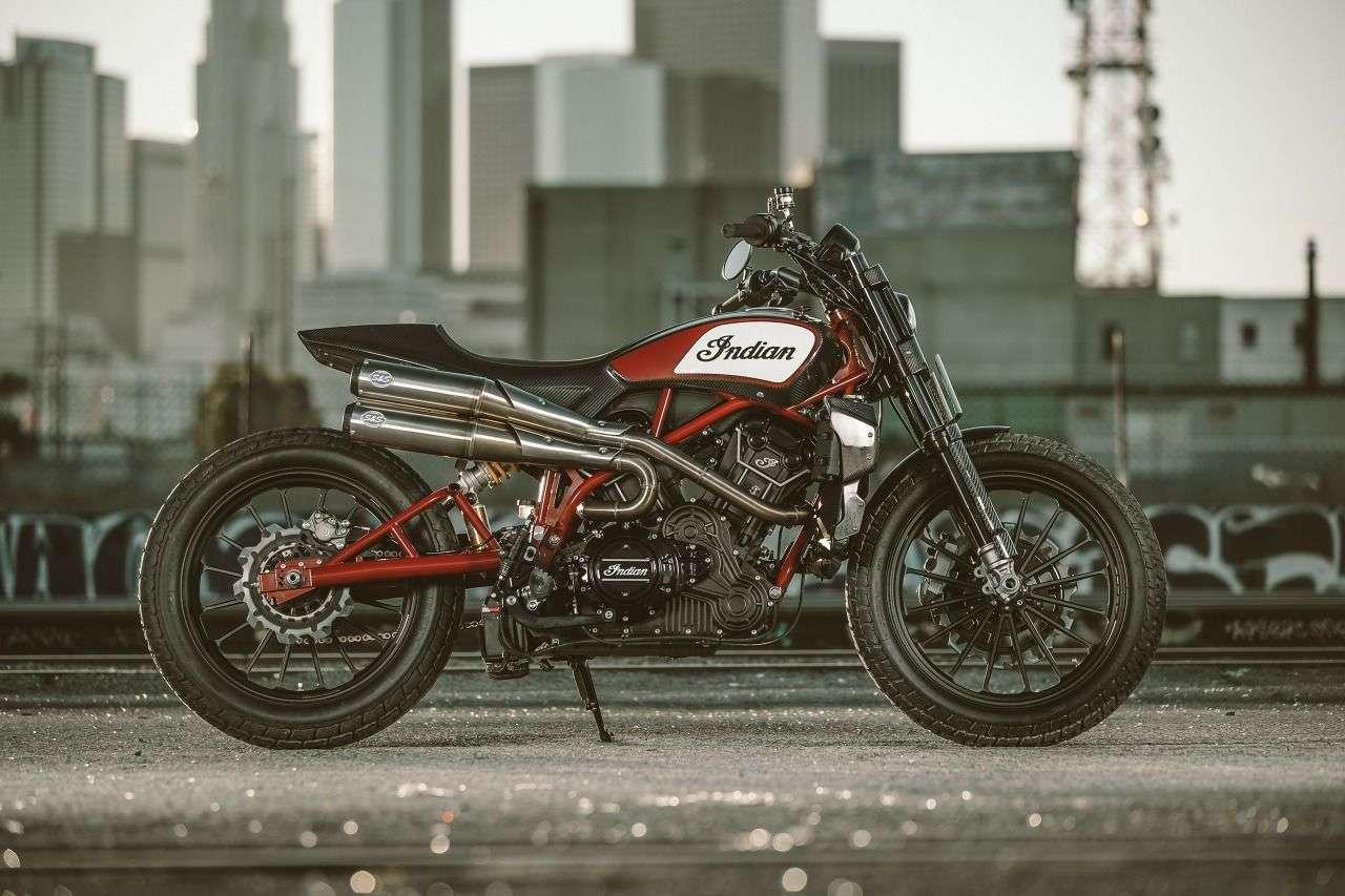 Auf den Prototypen der FTR1200 hat Indian viele positive Rückmeldungen erhalten. Sehen wir im Herbst das Serienbike?