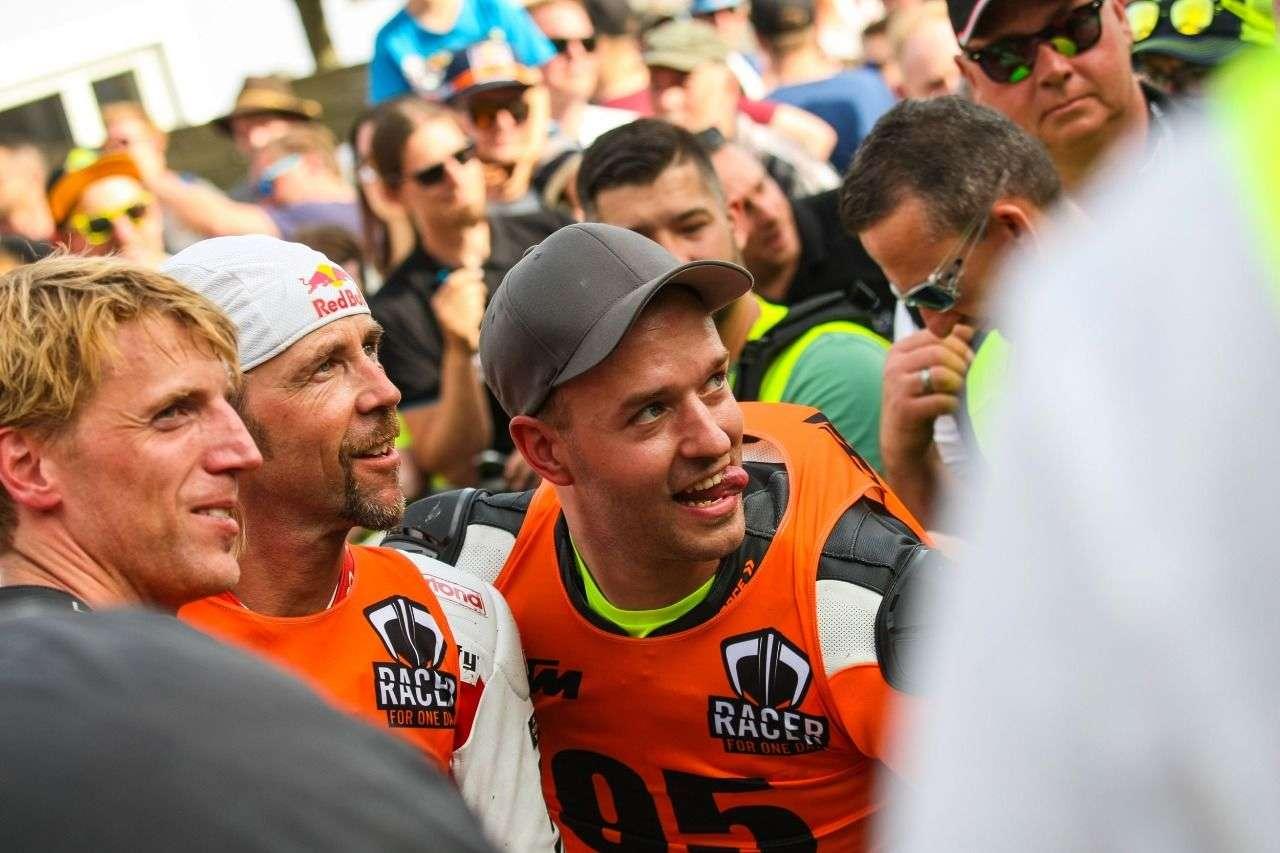 Andy Fichtenbauer, Franky Zorn und Patrick Dangl nach dem Rennen.