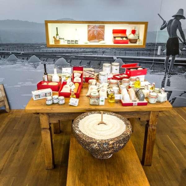 Zu den nettesten Shops gehört jener der Salinen bei Piran/Portoroz.