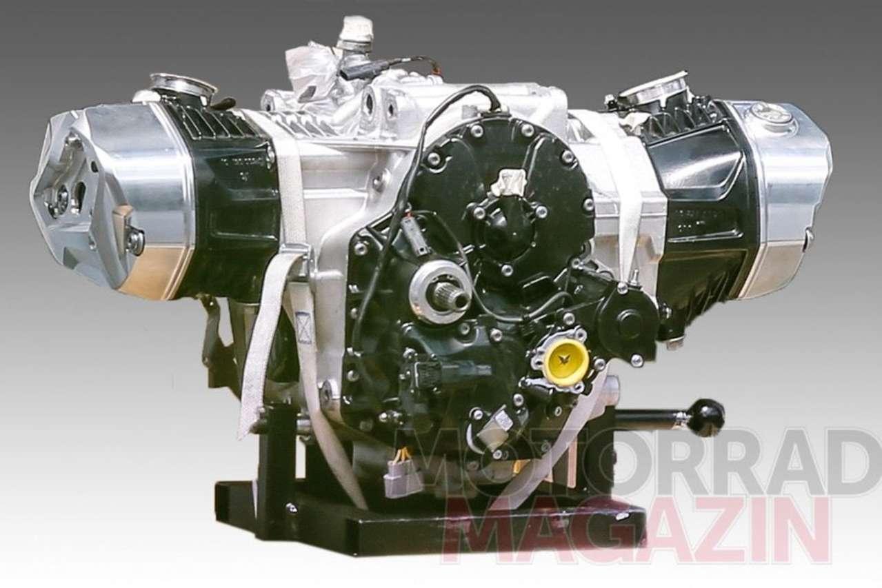 Erlkönigfoto eines Boxermotor-Upgrades. Möglicherweise mit variabler Ventilsteuerung?
