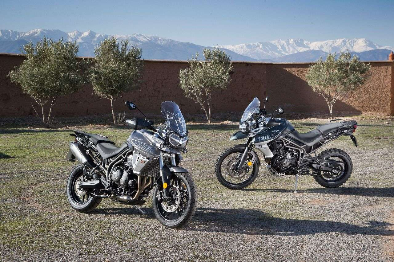 Triumph Tiger 800 XRt (li.) & XCa (re.)