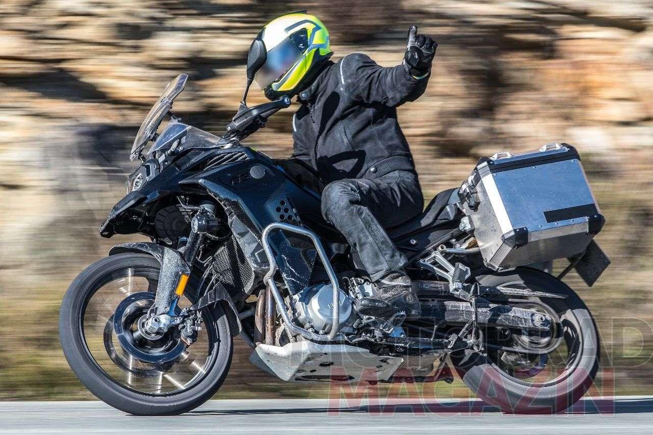 Prototyp der BMW F 850 GS Adventure – dürfte 2019 das BMW-Programm ergänzen. Foto © bmh-images