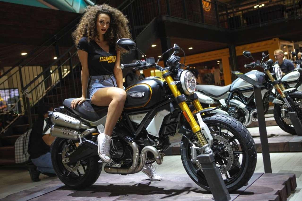 """Ducati Scrambler 1100: Erweiterung der italienischen Klassik-Palette. Kommt in drei Varianten (hier """"Sport""""), leistet 86 PS."""