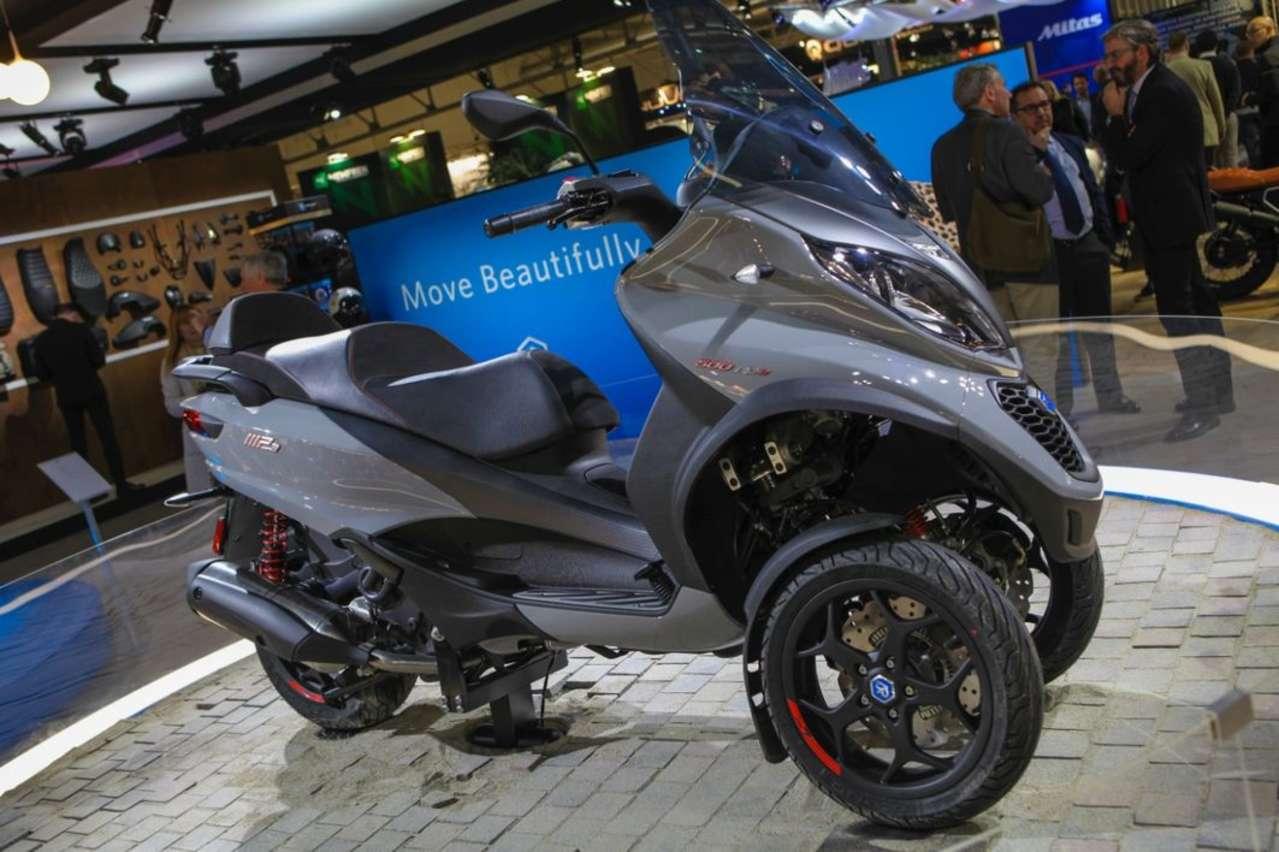 Piaggio MP3 350/500: Neue Motoren und technische Verfeinerungen am erfolgreichen Threewheeler.