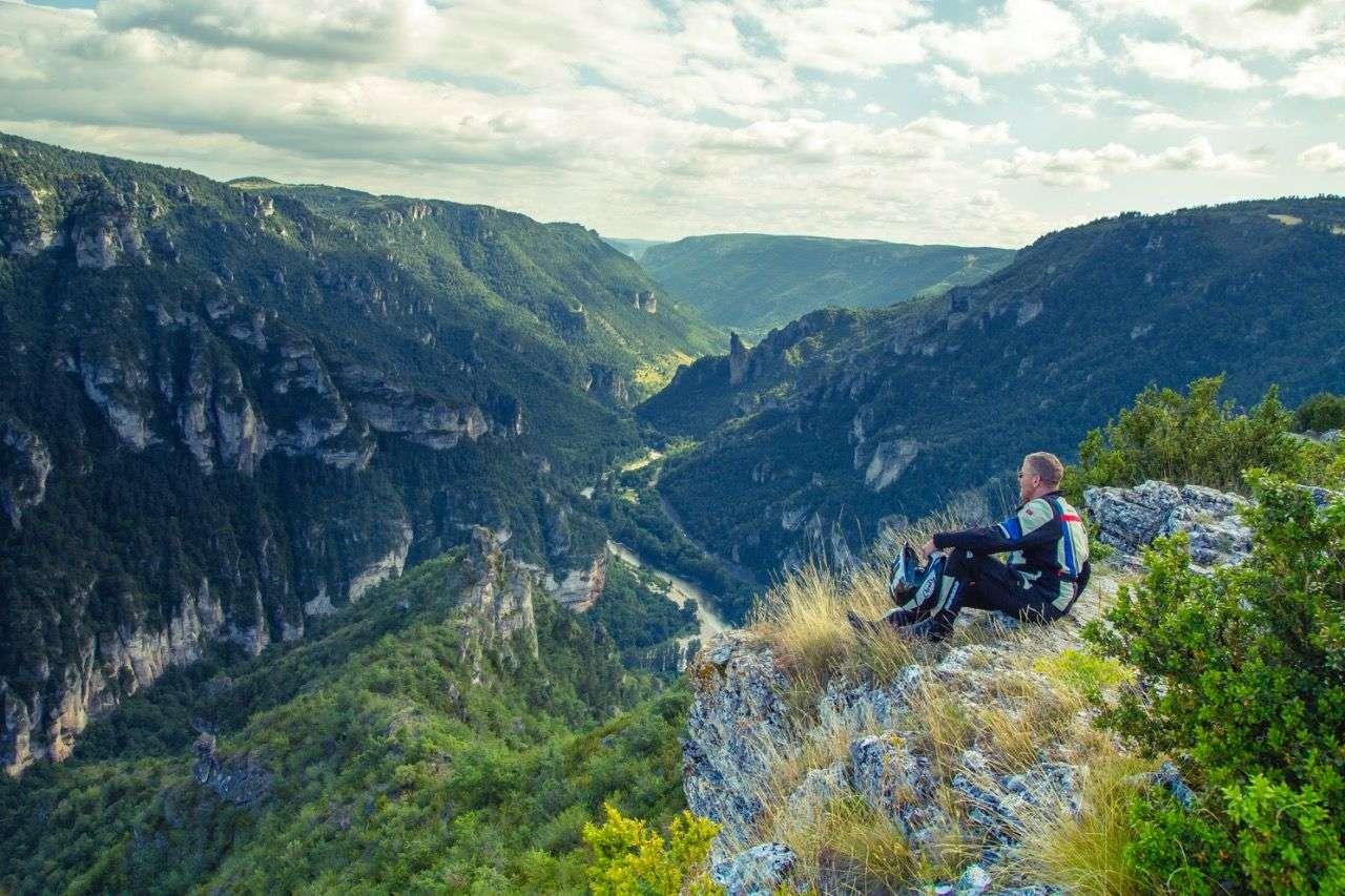 Südfrankreich, Blick in den Gorges du Tarn.