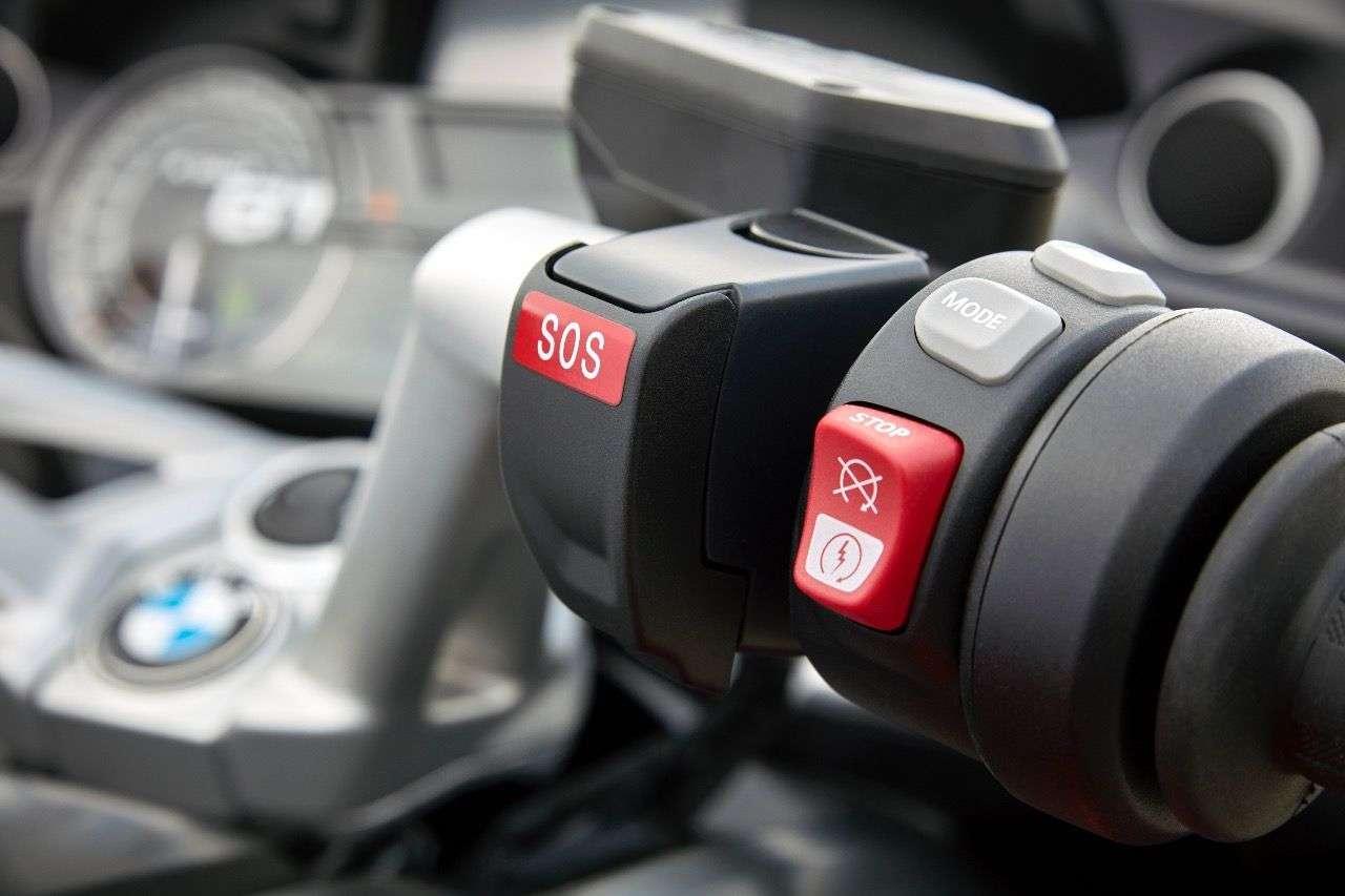 Intelligenter Notruf an der K 1600 GT: Das schlaue System soll bald auch in anderen BMW-Modellen verfügbar sein.