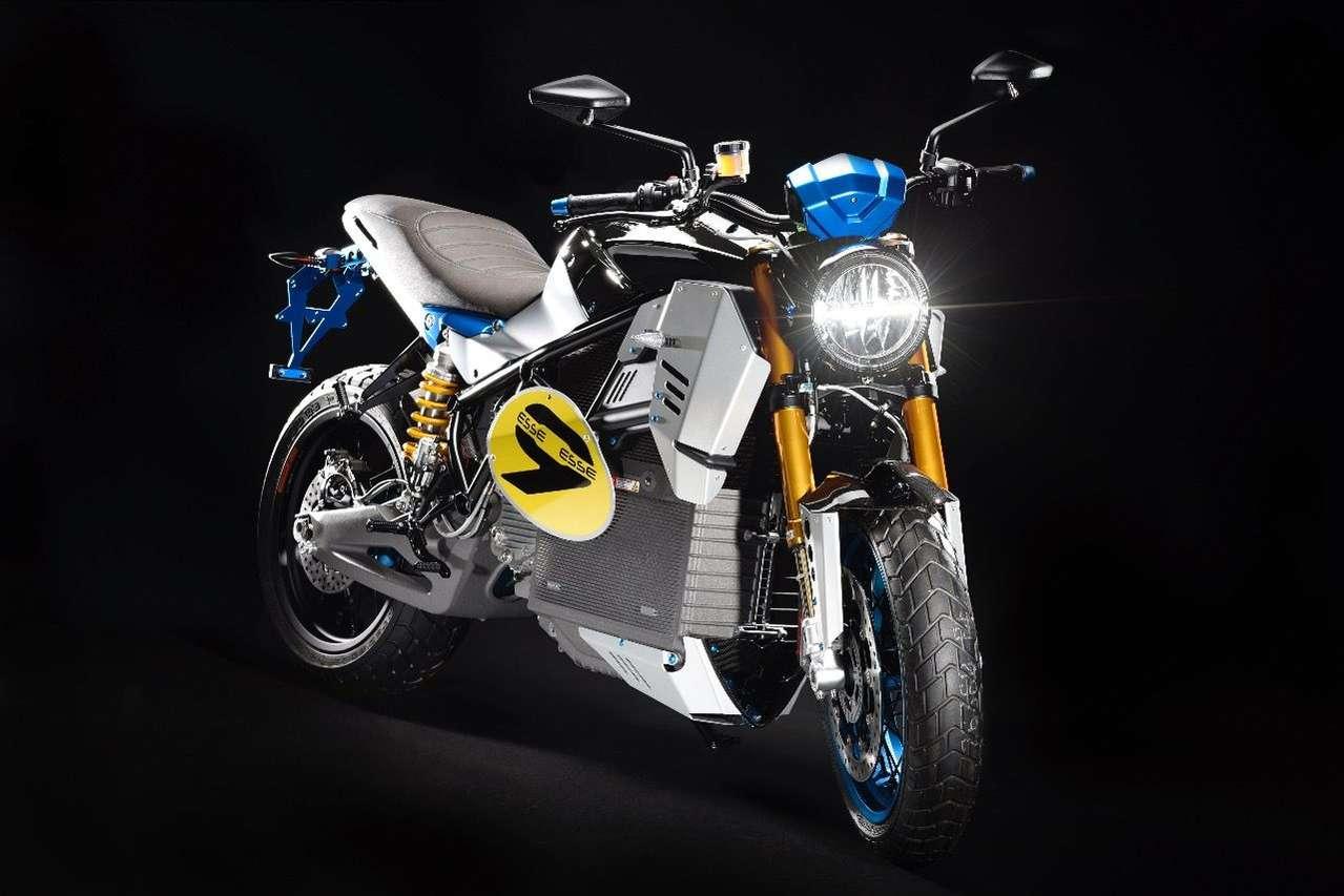 Energica EsseEsse9: Prototyp des dritten rein elektrischen Sportmotorrads des italienischen Spezialisten Energica. (Foto: Gianluca Muratori)