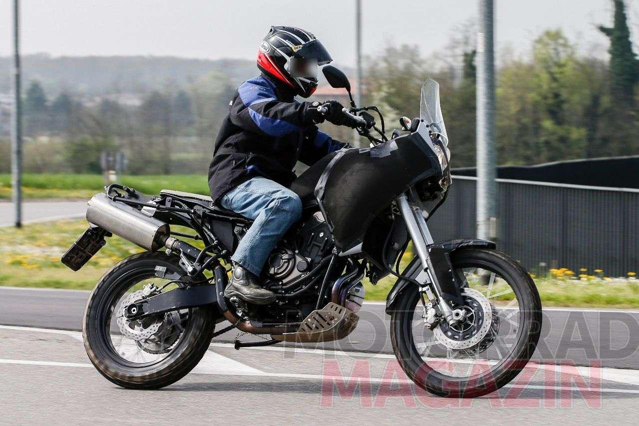 Beute unseres Erlklönigjägers: Yamaha-Reiseenduro mit Motor der MT-07/Foto © bmh images