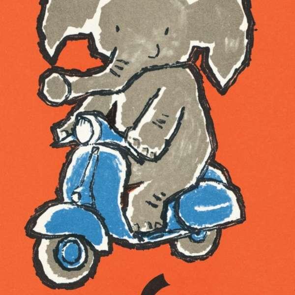 Elefanten machten Werbung im Jahr 1961
