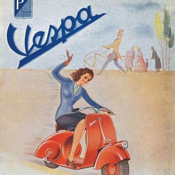 Eine der ersten Werbeplakate aus dem Jahr 1946