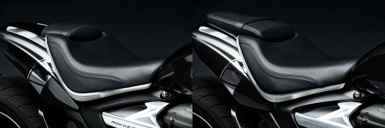 Sitzbank-Konzept der Triumph Rocket TFC: einfach austauschbar!