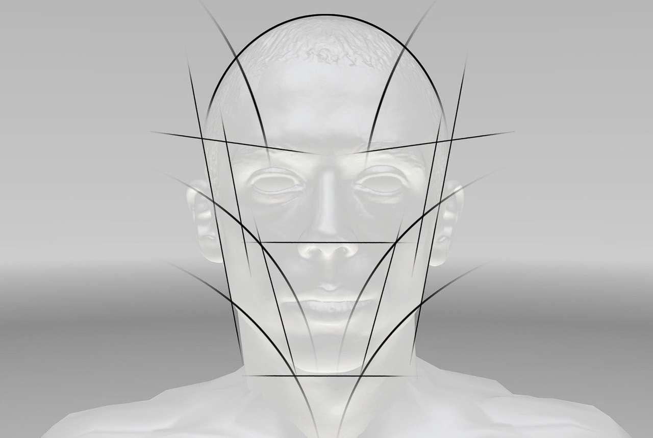 """""""Human Engineering"""" nennt AGV das Studium der verschiedenen Kopfformen, die auch mit Laserscans vermessen wurden."""