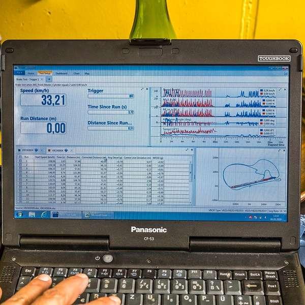 Erster Überblick über die aufgezeichneten Daten eines Testdurchlaufs.