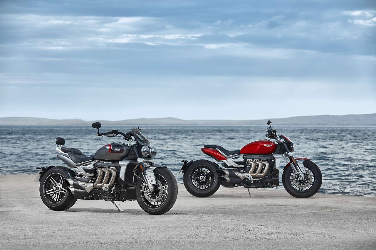 Zwei neue Britinnen für 2020: Die Triumph Rocket 3 als GT (links) und als R.