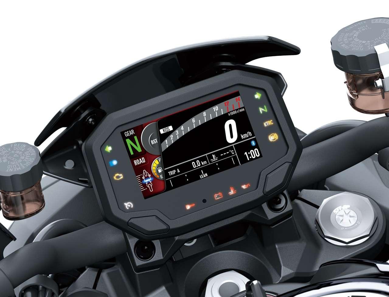 TFT-Bordcomputer mit Bluetooth-Schnittstelle.