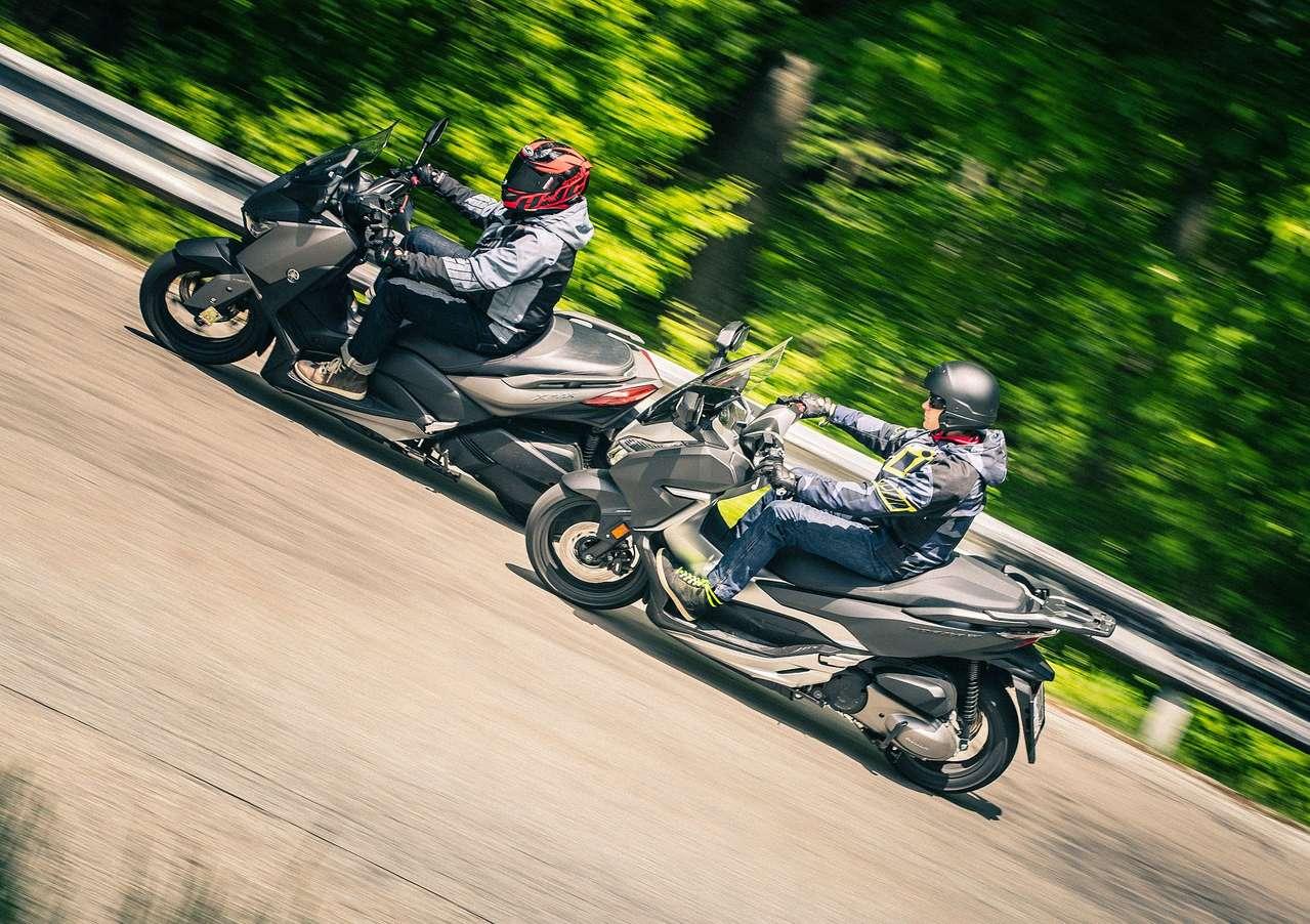 Yamaha und Honda schlagen sich tapfer
