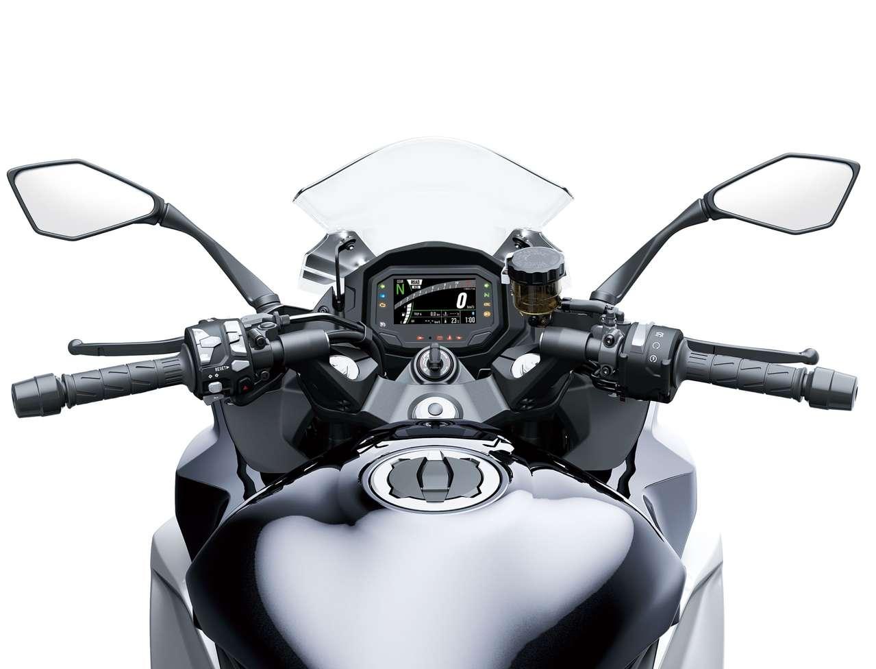 Das neue 4,3-Zoll-TFT-Display findet sich auch an der Ninja 1000SX