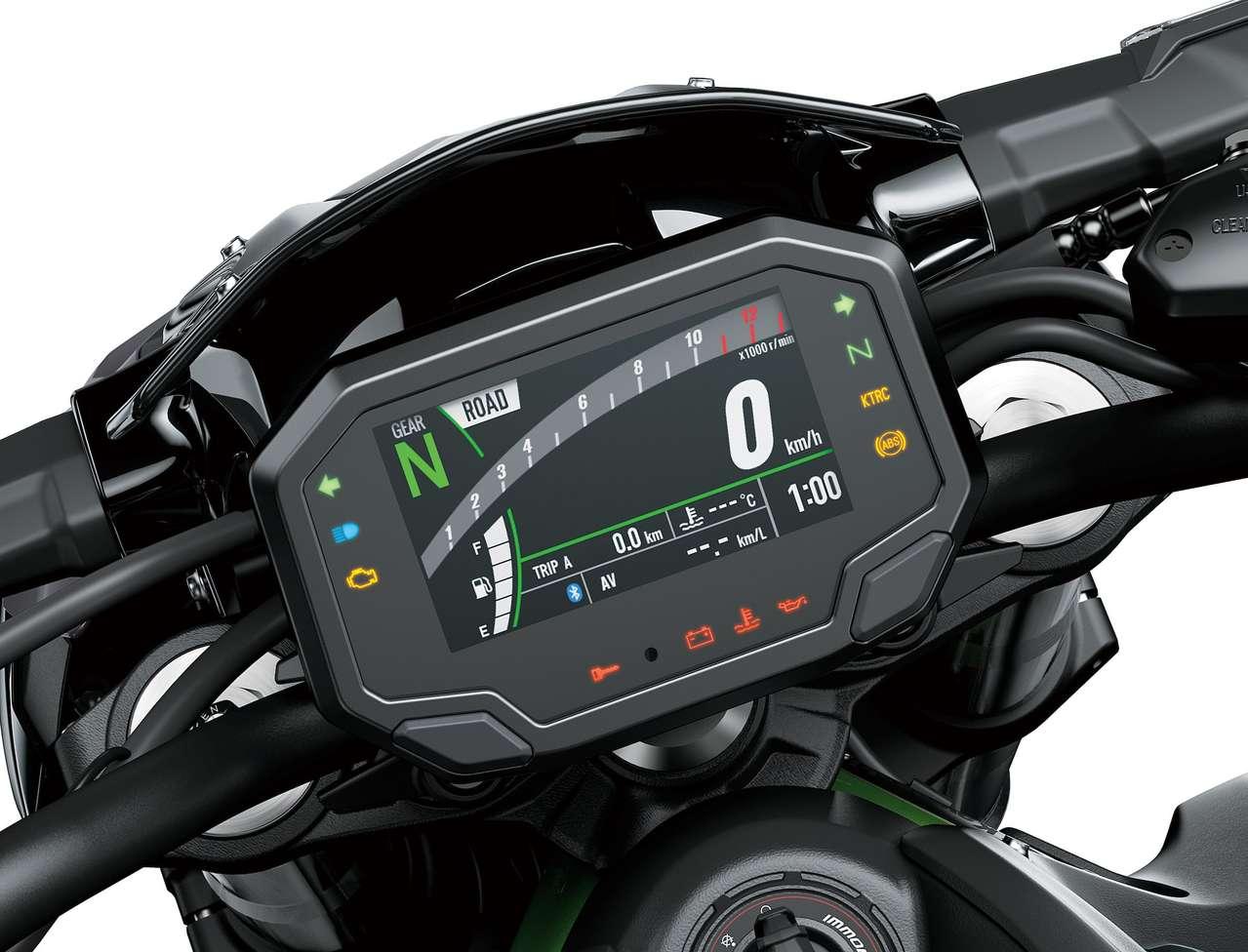Das neue TFT-Display bietet viele Informationen...