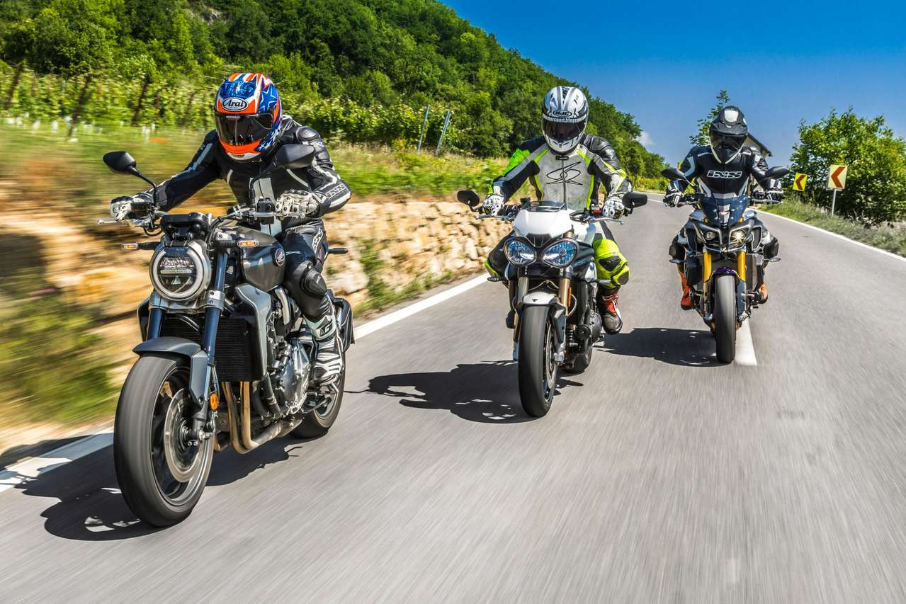 Honda CB1000R, Triumph Speed Triple, Yamaha MT-10