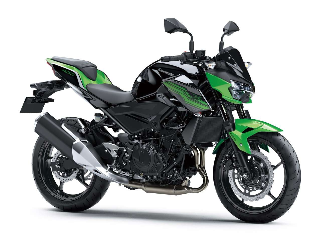 Z400 2020: Metallic Spark Black/Candy Lime Green