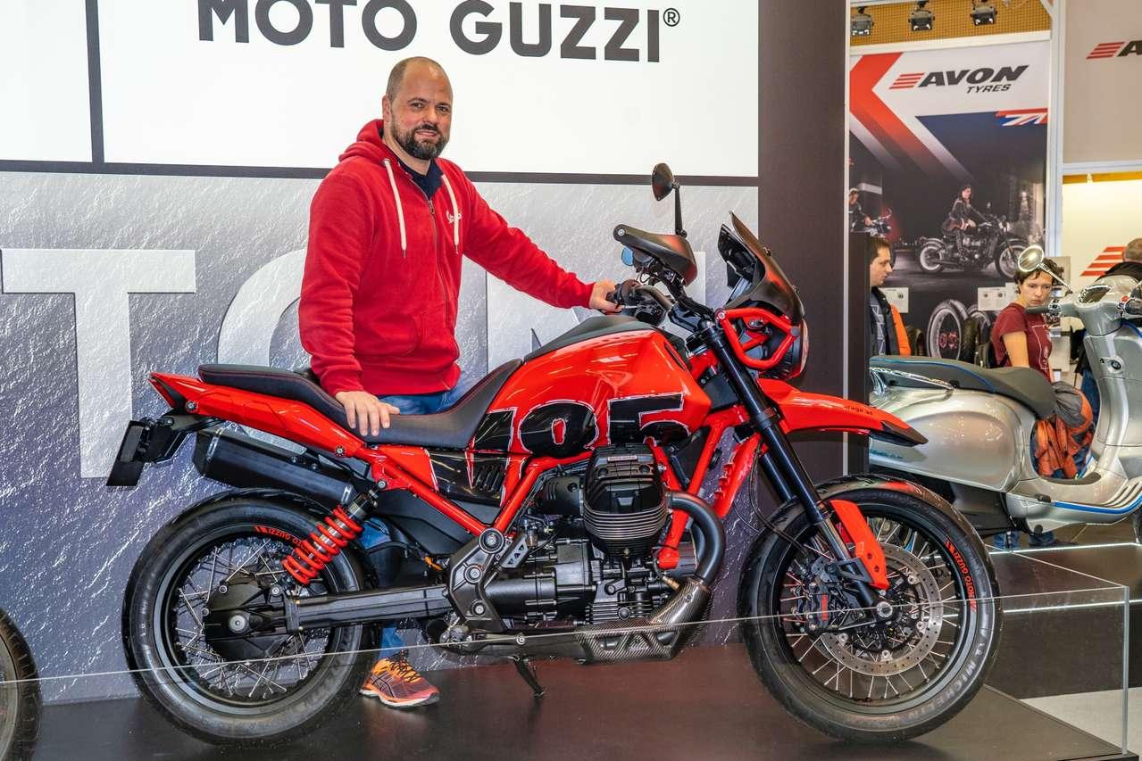Ein Mann und sein Motorrad: Guzzi-Papst Siegi Prugger und sein Umbau der V85 TT.