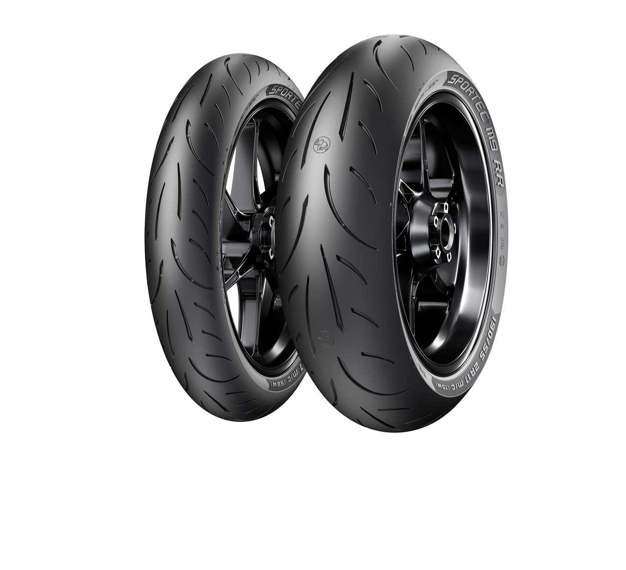 Der Metzeler Sportec M9 RR wird in 3 Vorderrad- und 9 Hinterrad-Dimensionen lieferbar sein.
