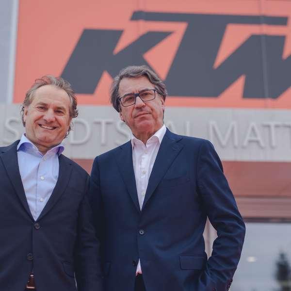 Hubert Trunkenpolz mit KTM-Boss Stefan Pierer.