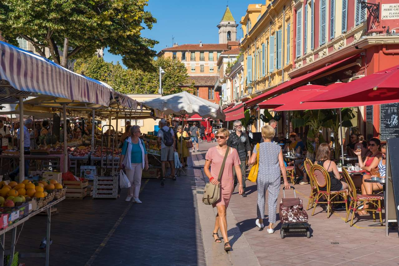 Nizza: der Cours Saleya