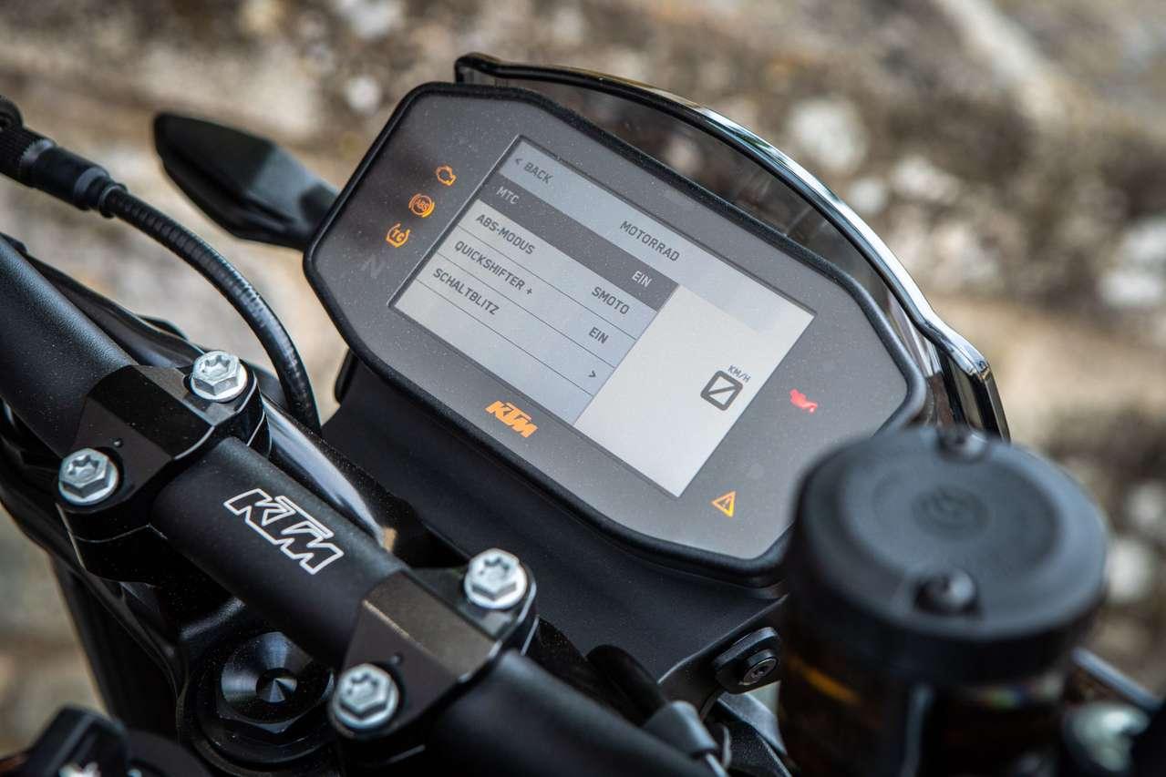 Klare, intuitive Menüführung bei KTM
