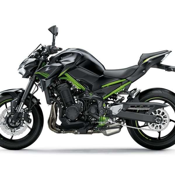 Kawasaki Z 900 2021 Metallic Spark Black / Metallic Flat Spark Black / Green