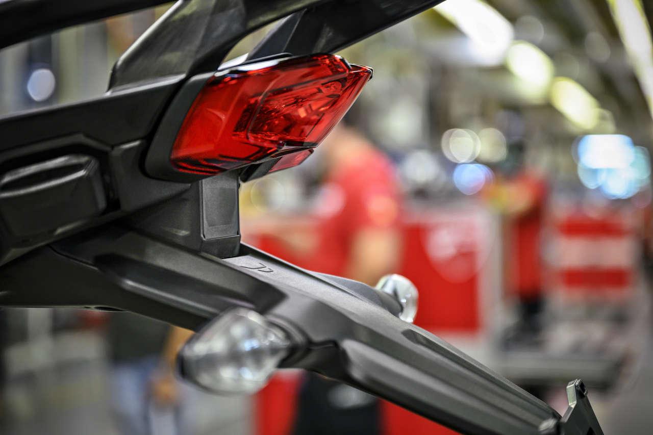 Heck-Radar an der Ducati Multistrada V4