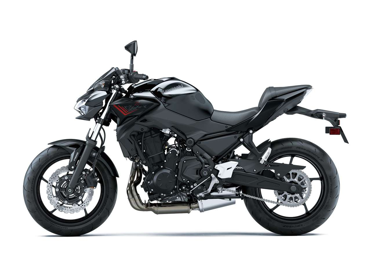 Kawasaki Z650 2021: Metallic Spark Black/ Metallic Flat Spark Black