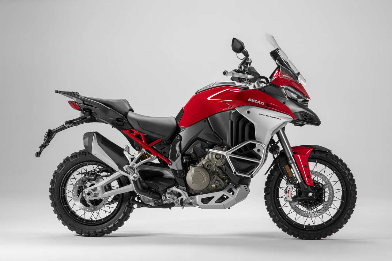 Ducati Multistrada V4 im Enduro-Trimm