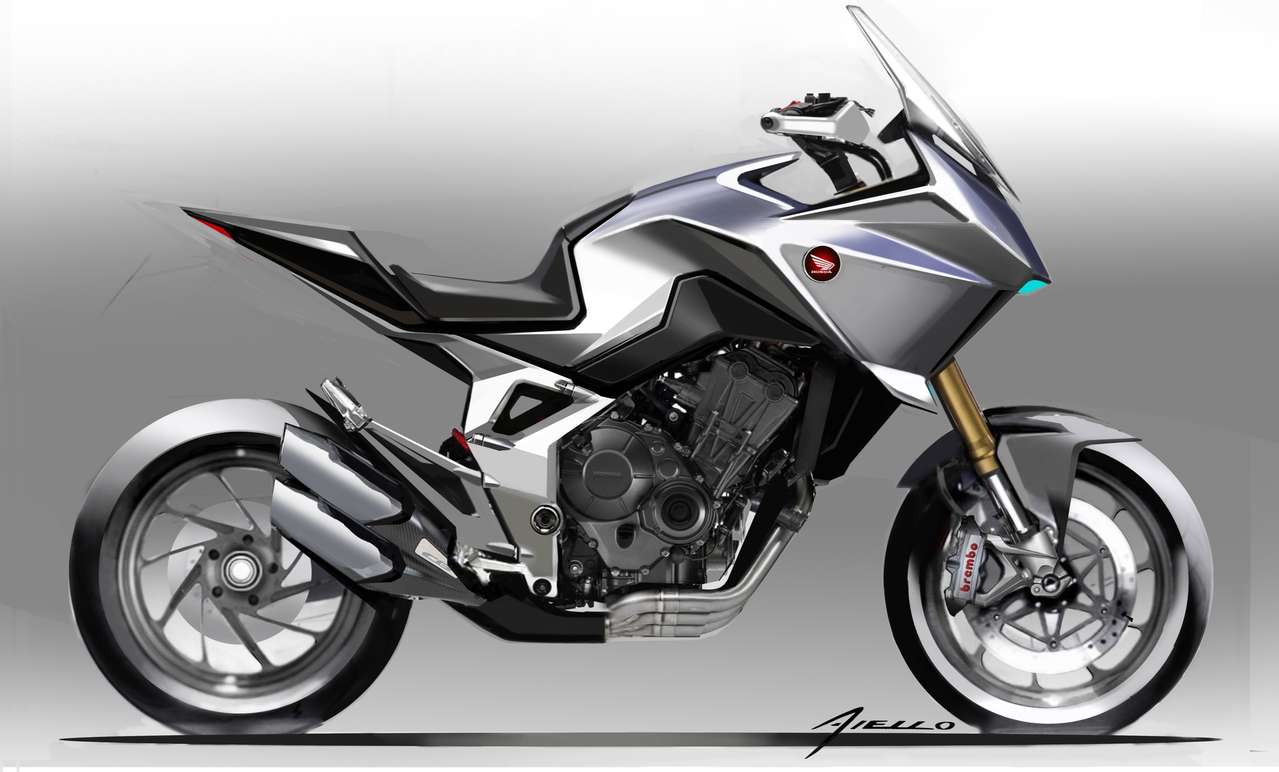 Studie namens Honda CB4X, die 2019 in Mailand präsentiert wurde; ein abgewandeltes Serienbike könnte bald auf den Markt kommen.