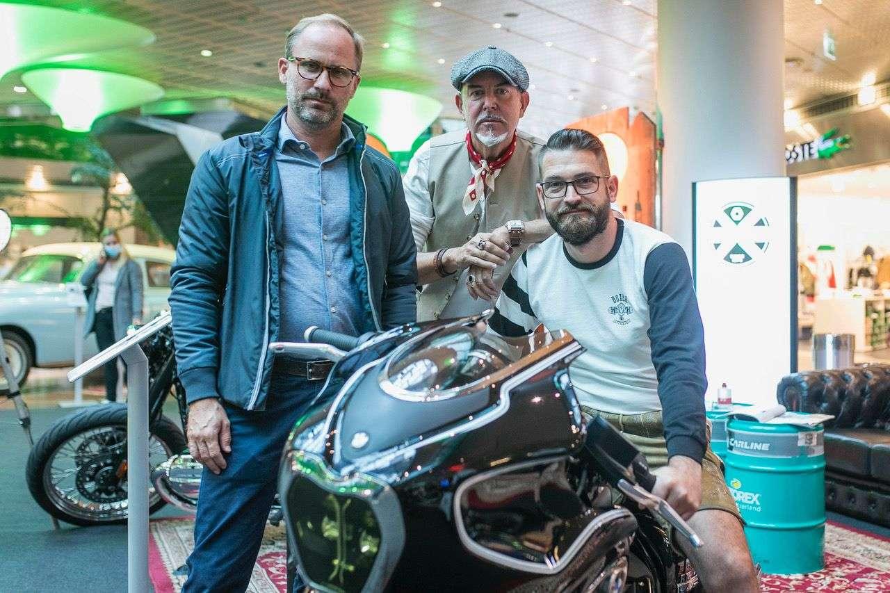 Oliver Balzer, GF BMW Motorrad Austria, Hannes Hackinger, Agentur fu?r Eventmarketing, Sigfried Seitz, BMW/Honda Frauenschuh